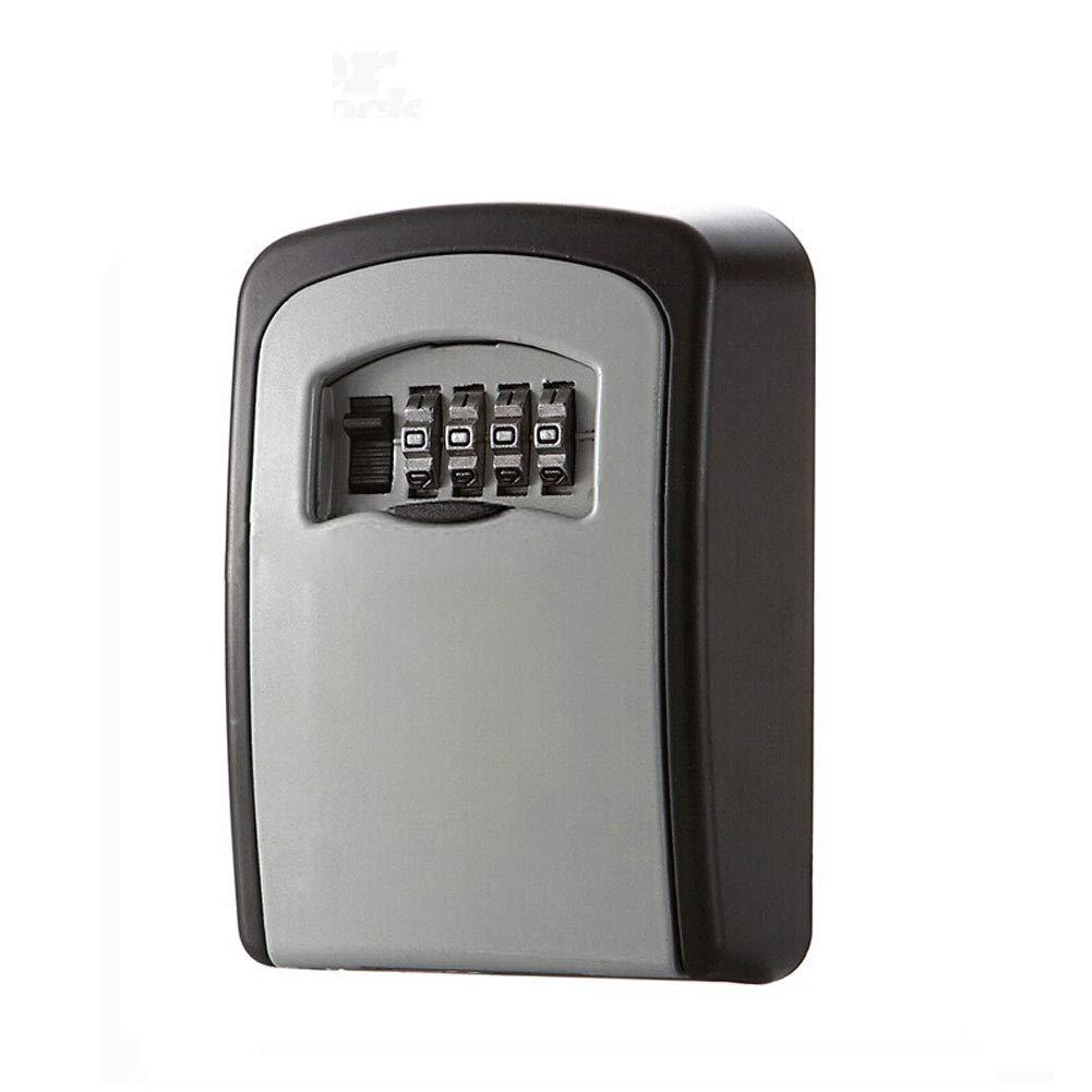 Schlü ssel Aufbewahrung Security Lock, W-Unique Wandmontage Outdoor Schlü sselsafe Speicher Verschluss Kasten mit 4-stelligem Zahlenschloss, zu teilen und Ihre Schlü ssel sicher fü r Zuhause, Bü ro, Garage etc.