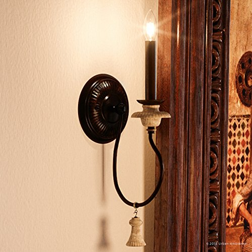 (Luxury French Country Wall Sconce, Small Size: 17.25