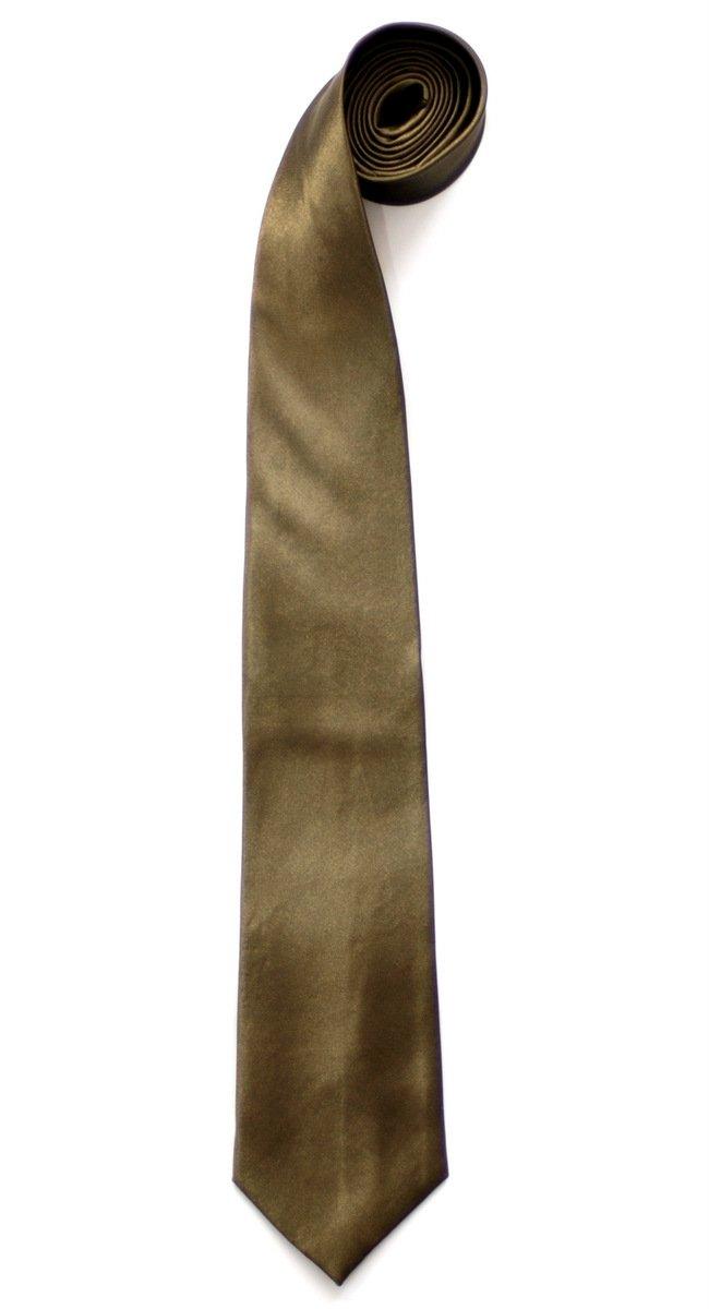 Retreez Plain Men's Tie - Army Green by Retreez