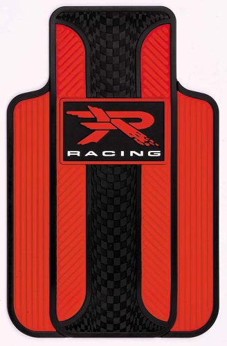 Plasticolor Red R Racing Universal-Fit Molded Front Floor Mats - Set of 2 001310R04