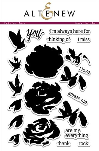 Altenew Painted Rose Clear Stamp Set High Quality Photopolymer FLO1036