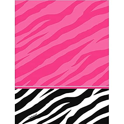 Amscan Pink And Zebra Print Plastic Table Cover Party Tableware Decoration 1 Piece