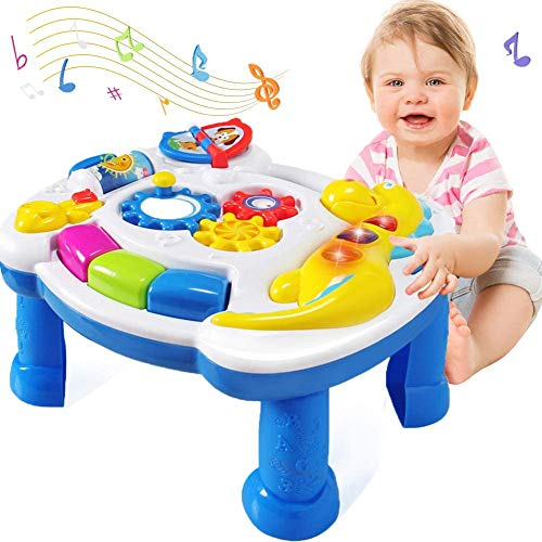 HOMOFY Homof Baby Toys Musical Learning Table 6 Months Up-Early Education Music Activity Center Game Table Toddlers…