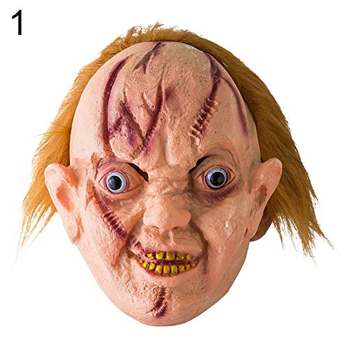 shengyuze Halloween Mask, Halloween Scary Disgusting Vinyl Bloody Ghost Tongue Mask Costume Party Props-1 ()