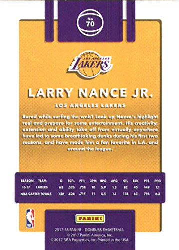 Amazon.com: Basketball NBA 2017-18 Donruss #70 Larry Nance Jr ...