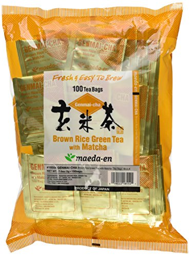 Brown Tea - Maeda En Genmai-Cha With Matcha Tea Bags, Roasted Rice, 100 Count