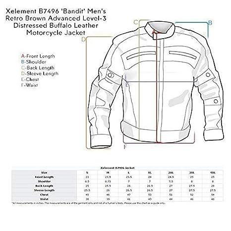 Amazon.com: Xelement B7496 Bandit - Chaqueta de piel de ...