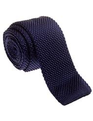 "Retreez Vintage Smart Casual Men's 2"" Skinny Knit Tie - Navy Blue"