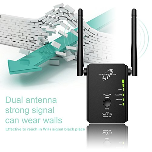 VICTONY WA305 - 300Mbps WiFi Extender 2.4 G Frequency WiFi Signal Booster with 2 x External Antennas 360 Degree Full Covering WiFi Range Extender