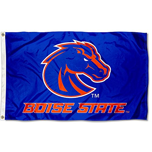 College Flags and Banners Co. Boise State Broncos Blue Flag Boise State Broncos Flag