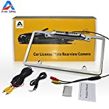 Car Rear View Backup Camera, Auto Safety Universal USA Metal Shell Car License Plate Frame Mount, Parking/Reverse Assistance, 170 Degree Wide Angle With 8 IR LED Night Vision waterproof(Silver) For Sale