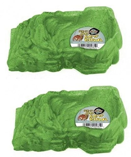 - (2 Pack) Zoo Med Hermit Crab Ramp Bowl, Small, Color:Assorted