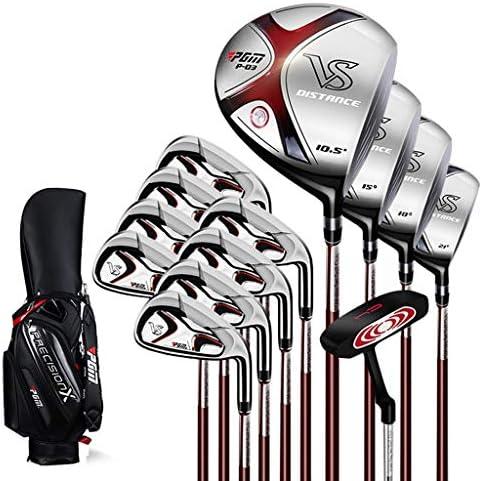 ゴルフスーツバッグ メンズコンプリートゴルフクラブパッケージセットには、次のものが含まれます パタースタンドバッグキャディバッグ付き クラブ12本 (Size : Steel shaft)