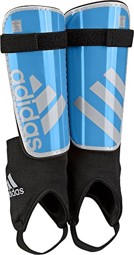 - adidas Performance Ghost Youth Shin Guards, Solar Blue/Silver Metallic Grey, Large