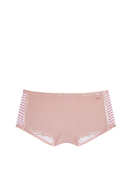 bd98b07b382f Victoria's Secret Pink Velvet Trim Shortie Panty Perfect Pink Stripe  (X-Small)