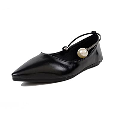 1TO9 Womens Beaded Pointed-Toe Low-Cut Uppers Urethane Flats Shoes