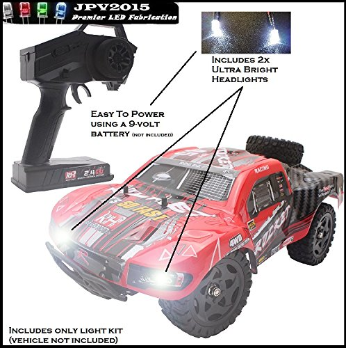 16 Truck Body (Cheerwing 1:16 4WD RC Truck LED Lighting Kit - Includes 2x Ultra Bright Headlights - Genuine JPV2015 Product -)