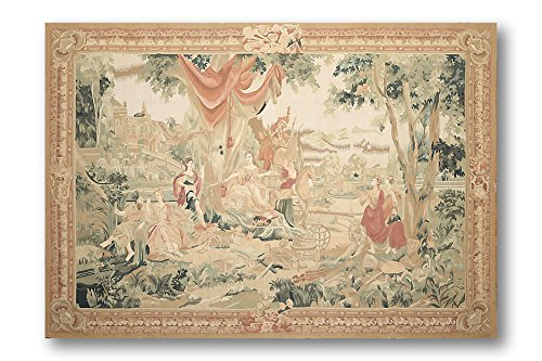 Hand Woven Aubusson Tapestry (5'7