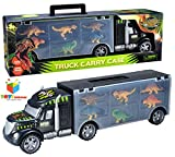 Toys Bhoomi 2 in 1 Dinosaur Safari Transport Car Long Haul Carrier Truck Case - Stores UPTO 6 Dino's