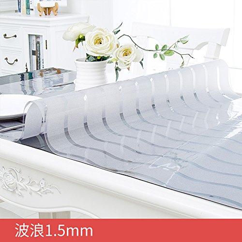 Xinhao Verre étanche en PVC Souple Et Tissu Résistant à l'huile Mat Repassage Nappe Jetable en Plastique Transparent Vague,1,5,70  120