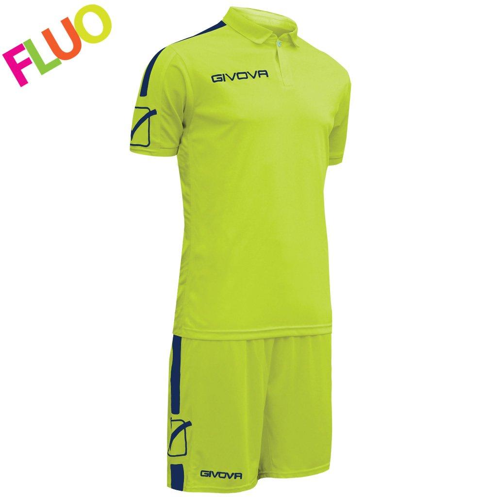 TALLA L. Givova, kit play, amarillo fluo/azul , L