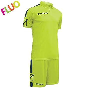 Givova, kit play, amarillo fluo/azul , M