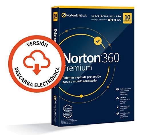 Norton 360 Premium 2020 10 Dispositivos 1 Ano Para Pcmac Codigo De Activacion Enviado Por Email