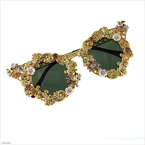 Cristal Marco Aszhdfihas protección Sol UV Metal Conducir Viajar para Verano Colorido de Baroque Playa Gafas de Lady'S TIdrqvdn