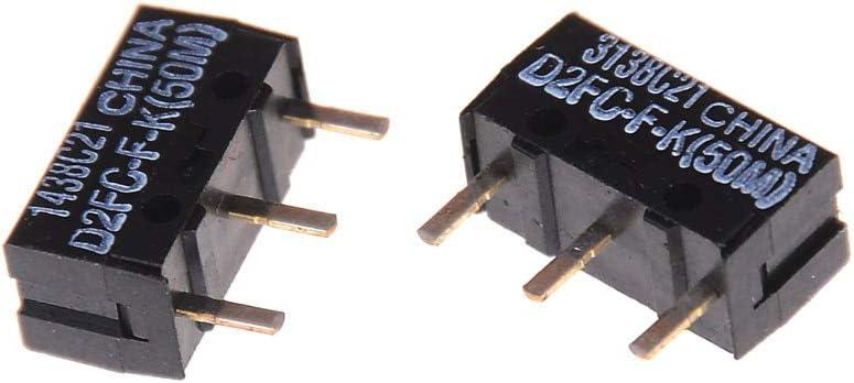 50m Mercury/_Group/_2Pcs//lot Original D2FC-F-K Blue Dot Mouse Micro Switches