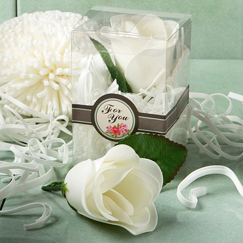 Elegant Rose Design Soap Wedding Favors