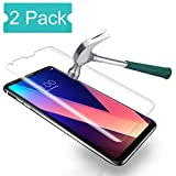 [2 Pack] LG V30 Tempered Glass Screen Protector, Auideas [Bubble-Free][Anti-Scratch][Anti-Fingerprint] 9H Hardness Ultra HD Clear Film [Case-Friendly] Screen Protector for LG V30 / V30+ / V30 Plus