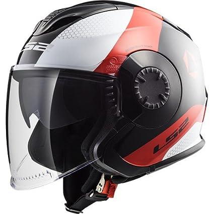 Amazon.es: LS2 Cascos de Motocicleta Verso Technik, Blanco ...