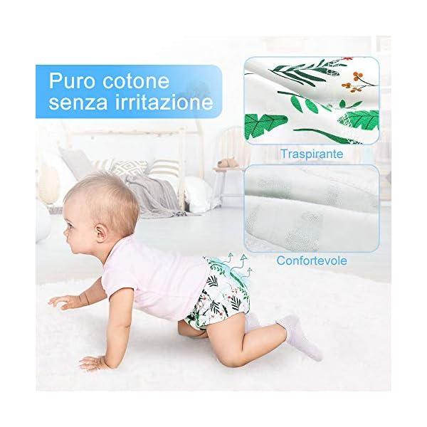 Lictin 4 Pezzi Mutandine di Apprendimento - 2 Pezzi Pannolini riutilizzabili con Pantaloni da Allenamento vasino a 7… 2