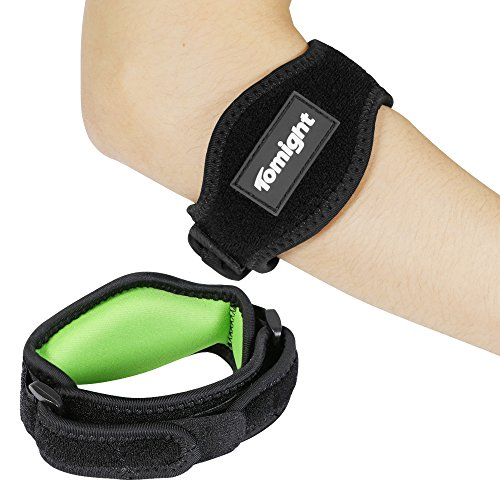 Tomight [2 Pack] Elbow Brace, Tennis Elbow Brace with Compression Pad for Both Men and Women, Green