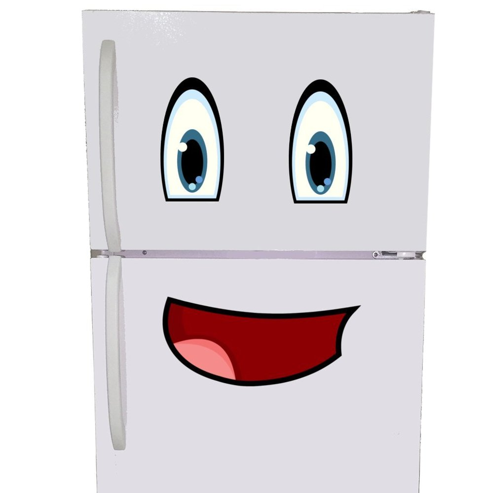 Mr. Fridge Smiley Face Magnet - Emoji Refrigerator Magnet Set For Kids