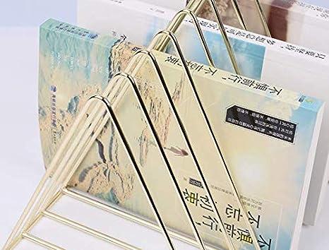 organizer da scrivania Fermalibri a triangolo libreria per giornali 26x18x18cm Rose gold