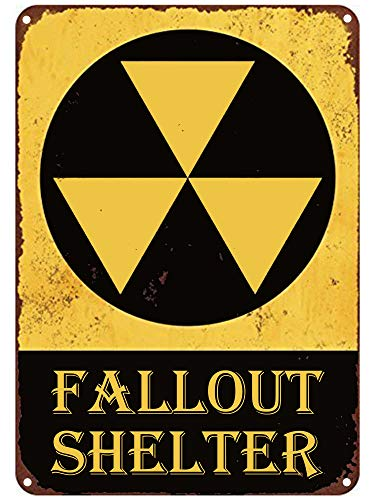 Fallout Shelter Sign - Flytime Tin Signs Fallout Shelter Vintage