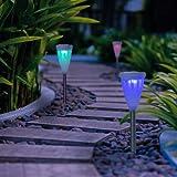 GIGALUMI Color-Changing Solar Lights Outdoor Garden Led Light Landscape / Pathway Lights-6 Pack