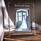 wedding picture frames - J Devlin Pic 319-81V EP548 Wedding Picture Frame Personalized 8x10 Vertical Photo Keepsake Engraved Glass Engagement