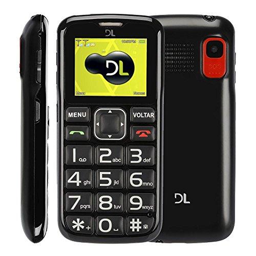Telefone Celular Dual SIM Barra, DL, YC110PRE-M, 24MB, 1.8, Preto