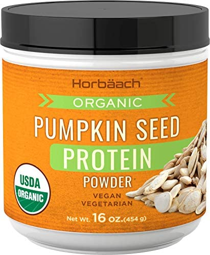 Pumpkin Seed Protein Powder Organic 16 oz Vegan, Vegetarian, Gluten Free, Non-GMO by Horbaach