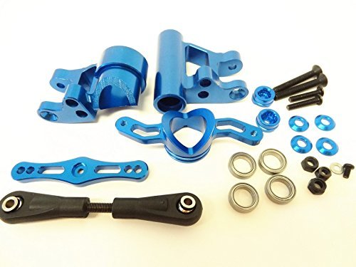 Rovan RC LT Blue CNC Aluminum Push-Pull Steering Kit Fits LOSI 5IVE T King Motor X2