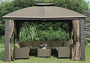 Sunjoy Replacement Canopy Set For 10x12ft Riviera Resin Gazebo