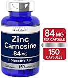 Zinc Carnosine Supplement | 84mg per Capsule | 150 Count | Non-GMO & Gluten Free | by Horbaach