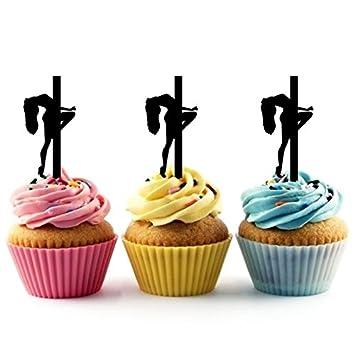 Sexy Girl Pole Dance Cupcake Cake Topper para tartas ...