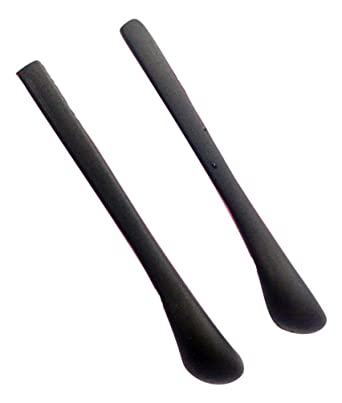 95cf37724b1f NEW One Pair Black Replacement Glasses Temple Covers Tips Ends For Metal  Arms  Amazon.co.uk  Clothing
