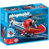 PLAYMOBIL® Firefighting Helicopter Construction...