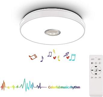 HOREVO 24W LED RGB Lámpara de Techo Musica Luz de Techo con ...