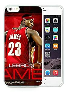 New Custom Design Cover Case For iPhone 6 Plus 5.5 Inch Cleveland Cavaliers Lebron James 12 White Phone Case