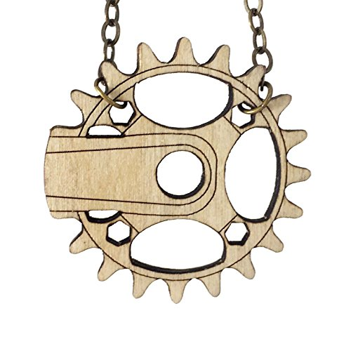 BIKE CRANK | wood necklace (Bike Crank Length)